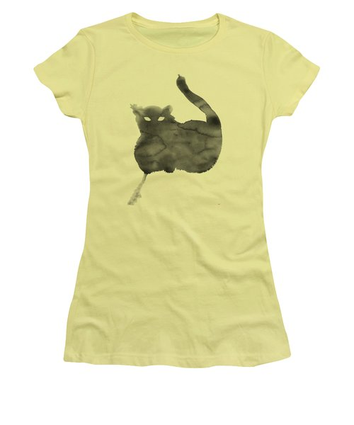Women's T-Shirt (Junior Cut) featuring the painting Cloudy Cat by Marc Philippe Joly