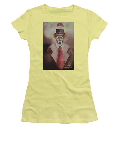 Clown Women's T-Shirt (Junior Cut) by Marlene Book