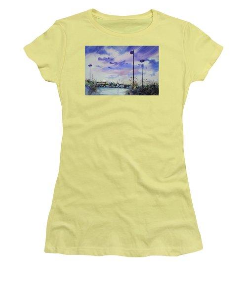 Coastal Beach Highway Women's T-Shirt (Junior Cut) by P Anthony Visco