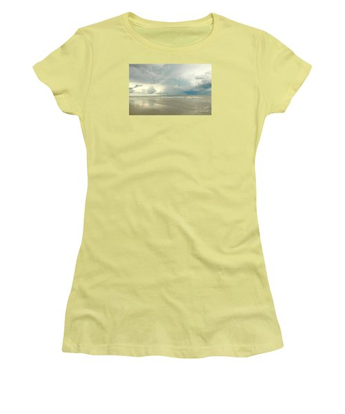 Coco Beach Women's T-Shirt (Junior Cut) by Raymond Earley