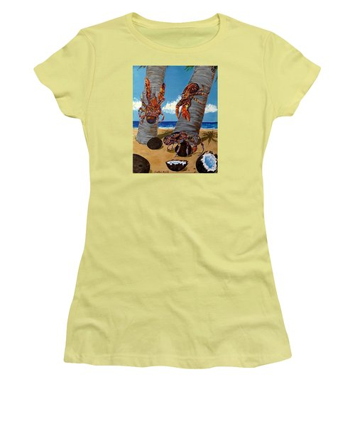Coconut Crab Cluster Women's T-Shirt (Athletic Fit)