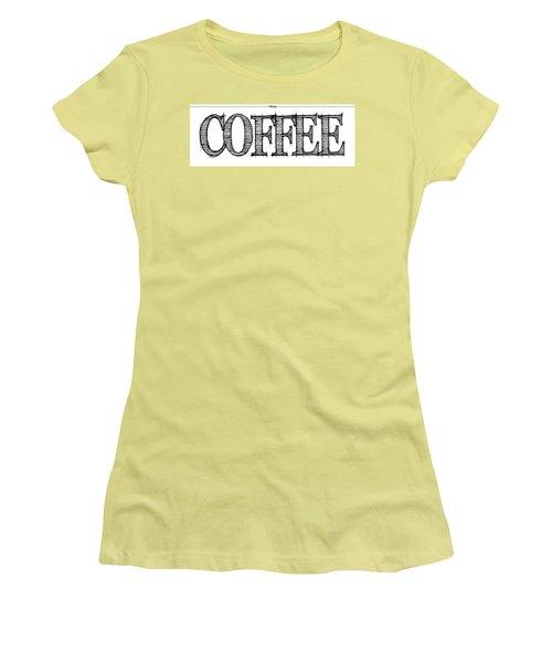 Coffee Fill Line Mug 2 Women's T-Shirt (Junior Cut) by Robert J Sadler