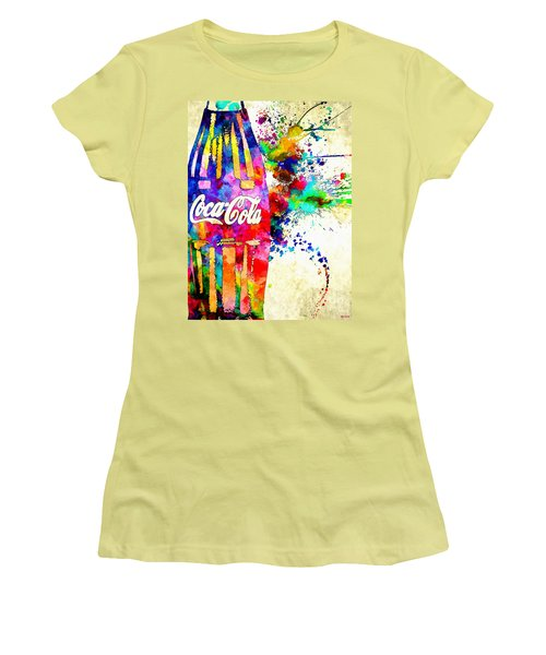 Cola Grunge Women's T-Shirt (Athletic Fit)
