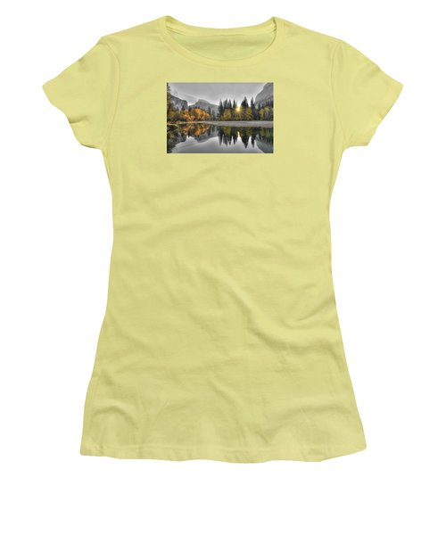 Cold Yosemite Reflections Women's T-Shirt (Athletic Fit)
