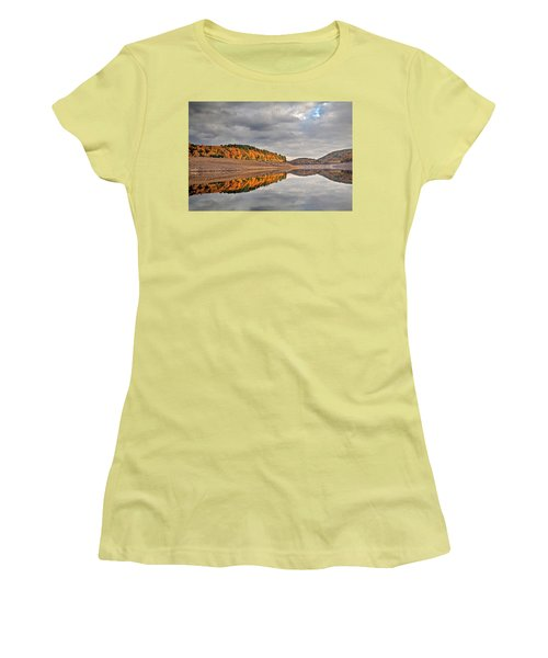 Colebrook Reservoir - In Drought Women's T-Shirt (Junior Cut) by Tom Cameron