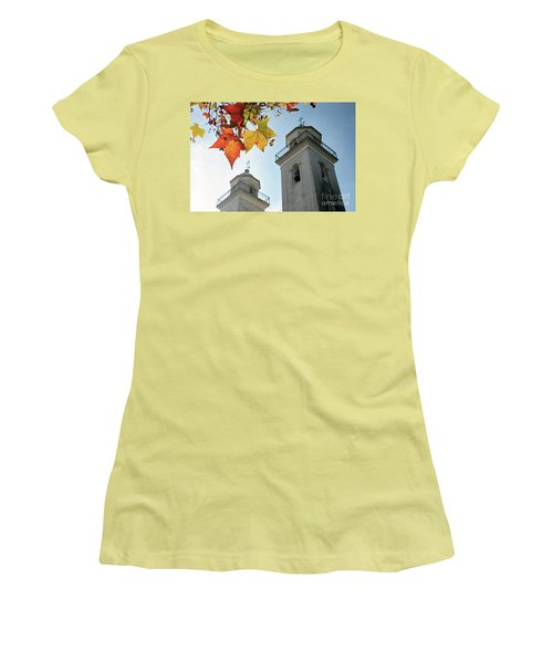 Women's T-Shirt (Junior Cut) featuring the photograph Colonia Del Sacramento Church by Bernardo Galmarini