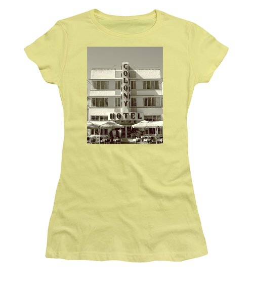Colony Hotel South Beach Women's T-Shirt (Athletic Fit)
