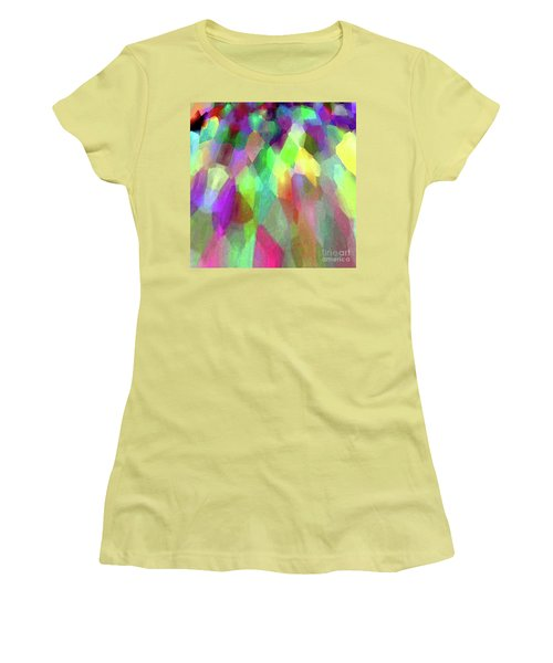 Color Abstract Women's T-Shirt (Athletic Fit)