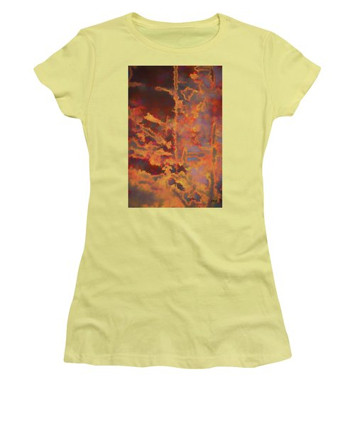 Color Abstraction Lxxi Women's T-Shirt (Junior Cut) by David Gordon