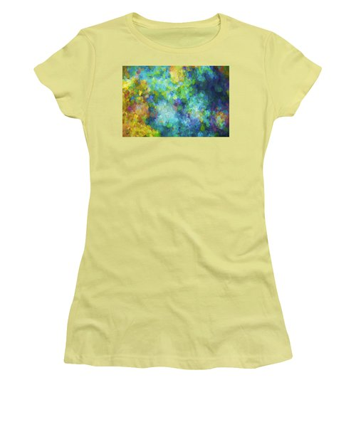 Color Abstraction Xliv Women's T-Shirt (Athletic Fit)