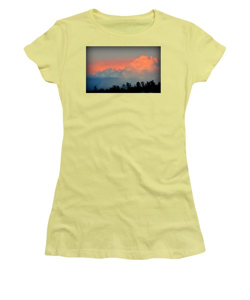 Women's T-Shirt (Athletic Fit) featuring the photograph Color Burst by AJ Schibig