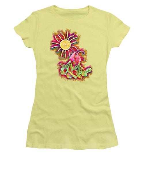 Color Splash - Radish Love  Women's T-Shirt (Athletic Fit)