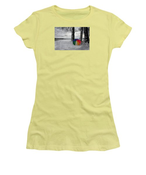 Color To The Melancholy Women's T-Shirt (Junior Cut) by Randi Grace Nilsberg