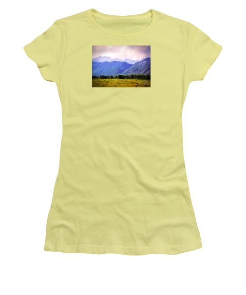 Colorado Harvest Watercolor  Women's T-Shirt (Athletic Fit)