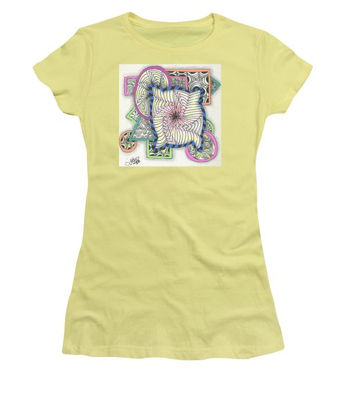 Colored Frames Women's T-Shirt (Junior Cut) by Jan Steinle