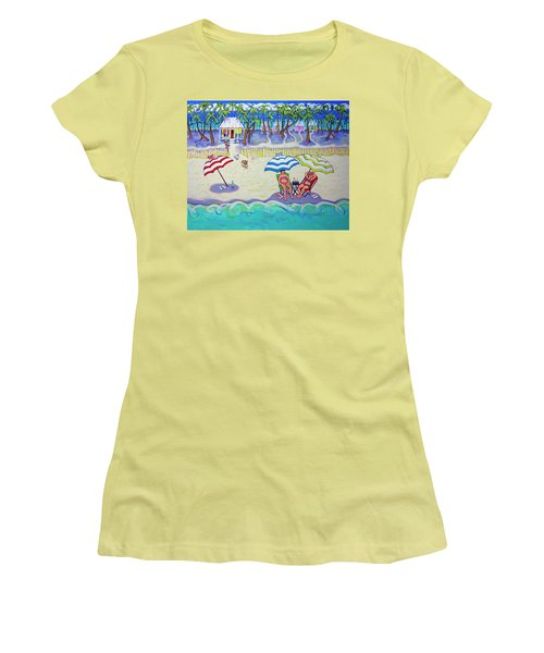 Colorful Beach Hideaway Women's T-Shirt (Athletic Fit)