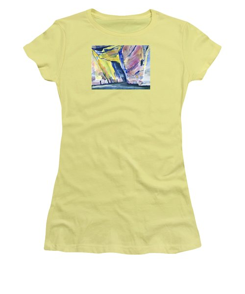 Colorful Cliffs And Cave Women's T-Shirt (Athletic Fit)