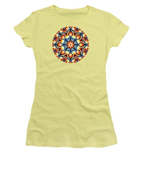 Colorful Concentric Motif Women's T-Shirt (Athletic Fit)