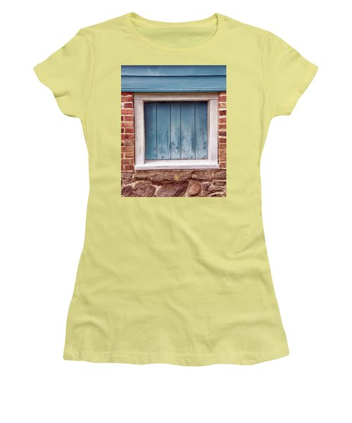 Colorful Nonwindow At Walnford Women's T-Shirt (Junior Cut) by Gary Slawsky