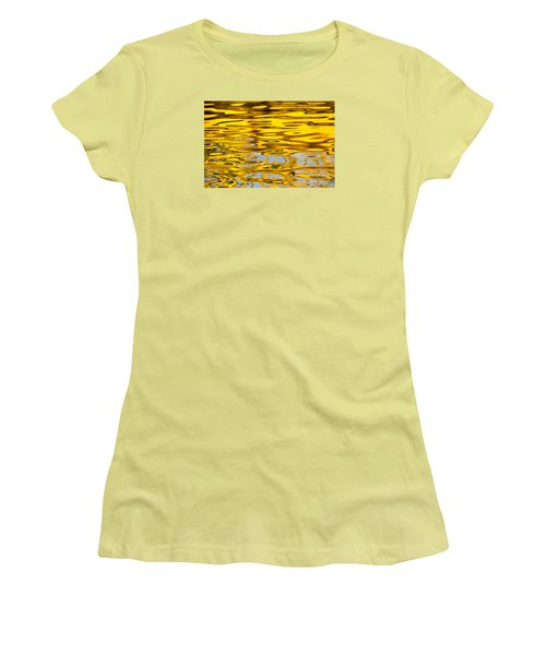 Women's T-Shirt (Junior Cut) featuring the photograph Colorful Reflection In The Water by Odon Czintos