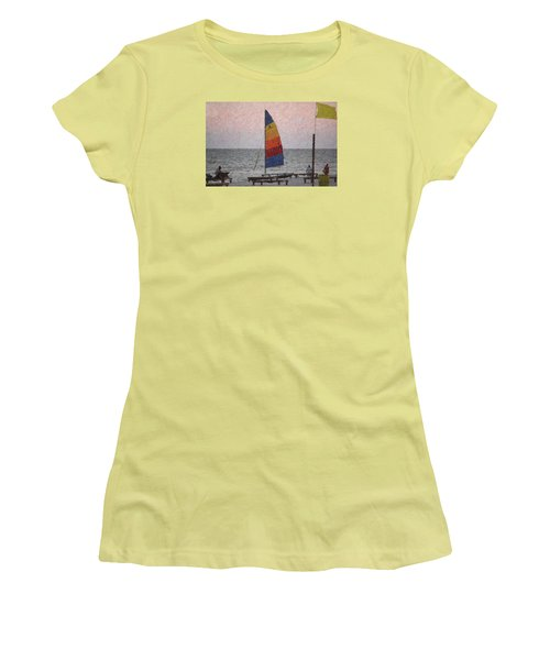 Colorful Sails Women's T-Shirt (Junior Cut) by Donna G  Smith