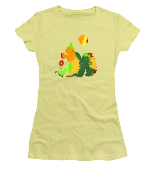 Colorful Squirrel 1 Women's T-Shirt (Athletic Fit)