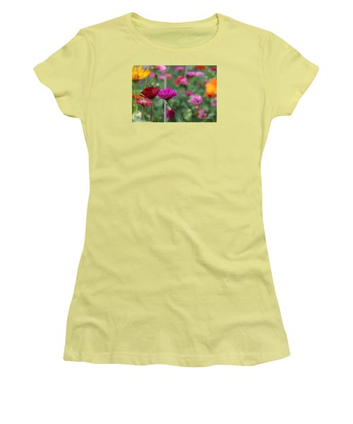 Women's T-Shirt (Junior Cut) featuring the photograph Colorful Summer by Yumi Johnson