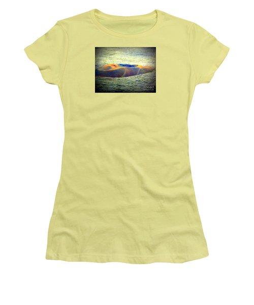 Colorful Volcanic Ash Women's T-Shirt (Junior Cut) by John Potts