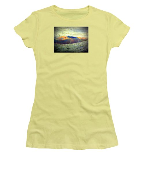 Colorful Volcanic Ash Women's T-Shirt (Athletic Fit)