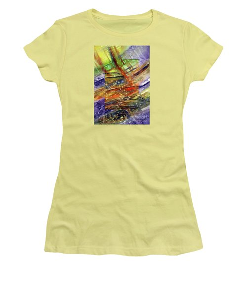 Colors Interrupting Women's T-Shirt (Junior Cut) by Allison Ashton
