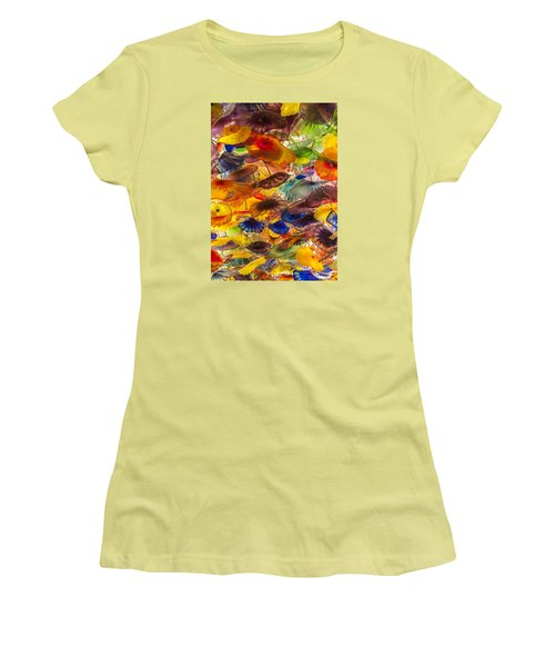 Colors Women's T-Shirt (Junior Cut) by Tyson and Kathy Smith