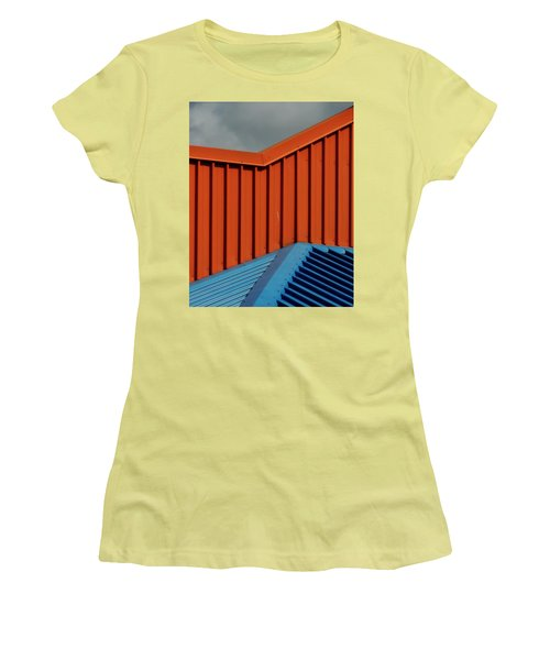 Coloured Corrugations 1 Women's T-Shirt (Athletic Fit)