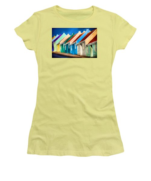 Coloured Women's T-Shirt (Athletic Fit)