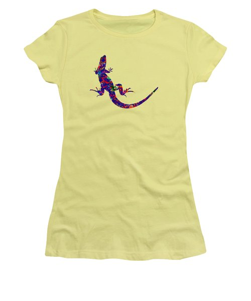 Colourful Lizard Women's T-Shirt (Junior Cut) by Bamalam  Photography