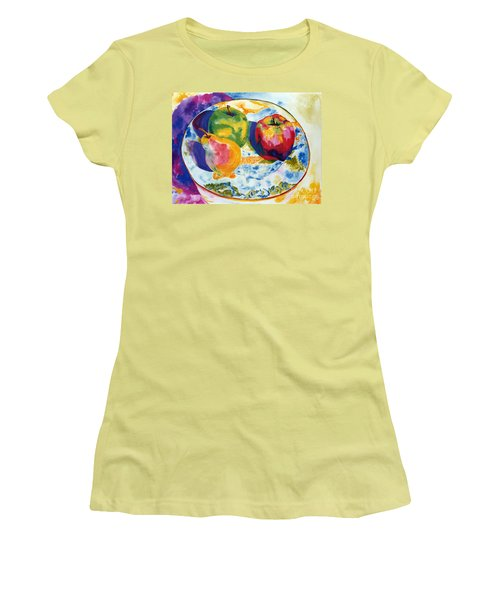 Colourful Trio Women's T-Shirt (Athletic Fit)