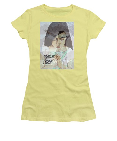 Come As A Child Women's T-Shirt (Athletic Fit)