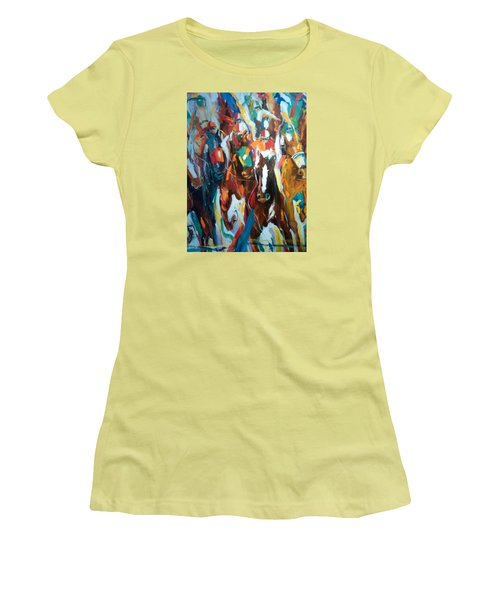 Coming Up Green Women's T-Shirt (Junior Cut) by Heather Roddy