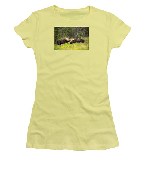 Women's T-Shirt (Junior Cut) featuring the photograph The Competition  by Aaron Whittemore