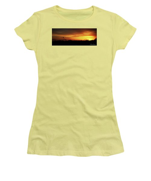 Connecticut Sunset Women's T-Shirt (Junior Cut) by Gordon Mooneyhan