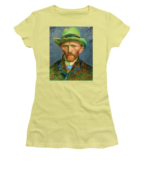 Contemporary 2 Van Gogh Women's T-Shirt (Junior Cut) by David Bridburg