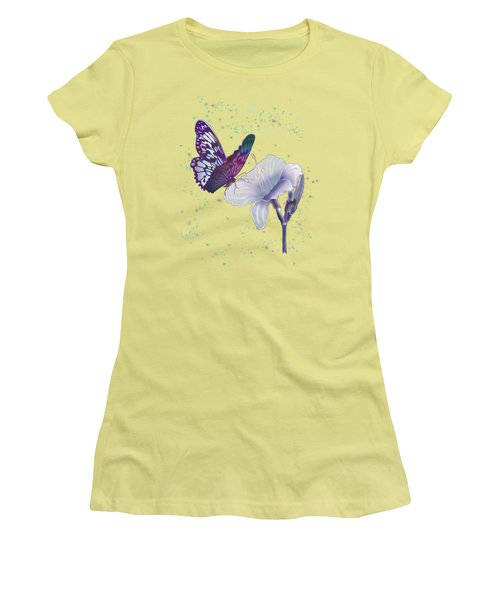Contemporary Painting Of A Dancing Butterfly  Women's T-Shirt (Junior Cut) by Regina Femrite