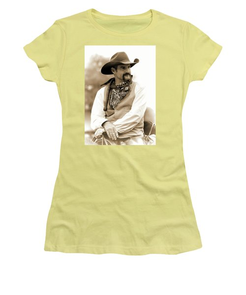 Content In The Saddle Women's T-Shirt (Athletic Fit)