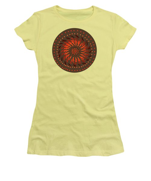 Women's T-Shirt (Junior Cut) featuring the painting Coober Pedy by Linda Lees