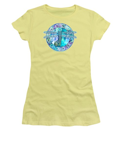 Cool Celtic Dragonfly Women's T-Shirt (Junior Cut) by Kristen Fox