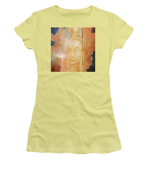 Copper Buddha Women's T-Shirt (Junior Cut) by Dina Dargo