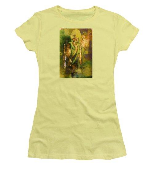 Copper Hair Women's T-Shirt (Junior Cut) by Andrea Barbieri