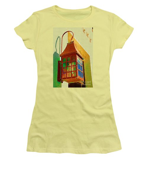 Copper Lantern Women's T-Shirt (Junior Cut) by Donna Bentley