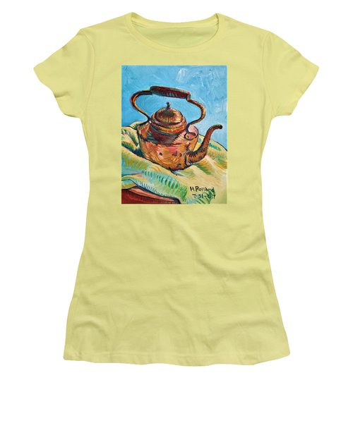 Copper Teapot Women's T-Shirt (Athletic Fit)