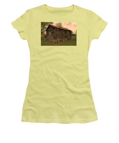 Corn Shed Women's T-Shirt (Junior Cut) by Ronald Olivier