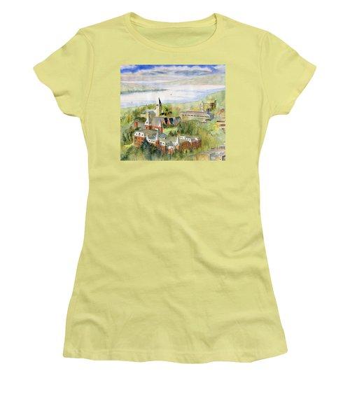 Cornell University Women's T-Shirt (Junior Cut) by Melly Terpening